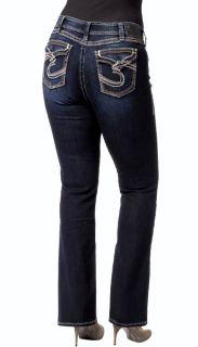 Silver Jeans Suki Surplus Woman Plus Size Stretch Bootcut Jeans, 14,16