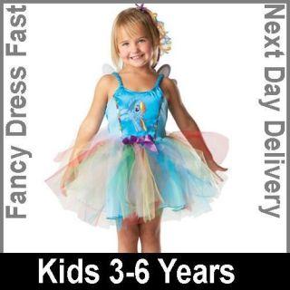 Licensed My Little Pony Rainbow Dash Fancy Dress Costume Kids Girls