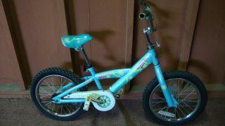 Collectible Kids Dialed Trek Mystic 16 Girls Bike, Blue w/ Flowers