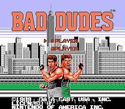 bad dudes nes in Video Games