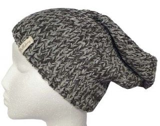 NEW + TAG BILLABONG ERIN LADIES BLACK GREY SLOUCH BEANIE HAT SNOW
