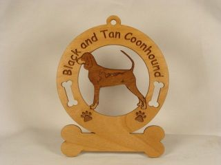 Black and Tan Coonhound Dog Ornament Personalized With Your Dogs Name