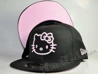 HELLO KITTY BLACK/PINK NEW ERA 59Fifty Fitted CAP HAT