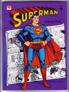 SUPERMAN COLORING BOOK, WHITMAN, 1966, UNUSED