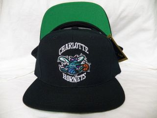 SNAPBACK HAT CHARLOTTE HORNETS GREEN UNDERBRIM GREAT DEAL