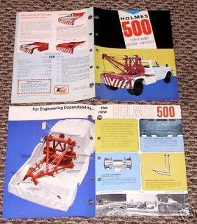 ORG 71 Ernest Holmes 500 wrecker tow truck 10t brochure Twin Boom