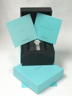 Tiffany & Co. Genuine 18k White Gold Womens Wristwatch with Diamond