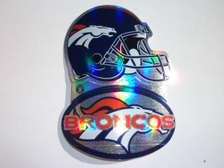 Lot of 10 Broncos NFL football helmet decal Stickers