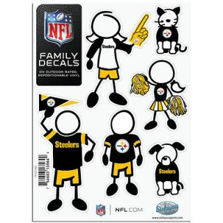 Pittsburgh Steelers Family Decals Set of 6