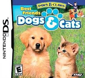 Nintendo DS Game Paws and Claws Best Friends Dogs and Cats  $4 ships