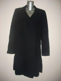 Womans ANN DEMEULEMEESTER Long Black Wool Jacket Size 38 Nice