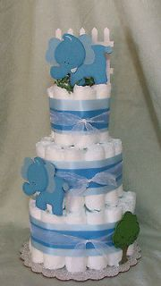 Tier Diaper ELEPHANTS, Zoo Safari Animal Baby Shower Centerpiece