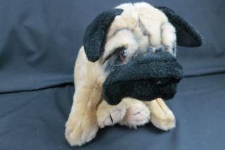 LIFELIKE ANIMAL ALLEY BULLDOG PUPPY DOG PLUSH STUFFED ANIMAL PUG SOFT