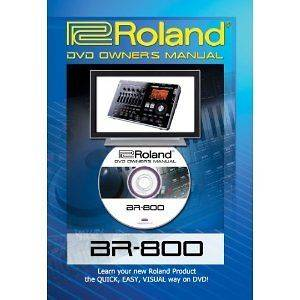 roland dvd owners manual Boss BR 800