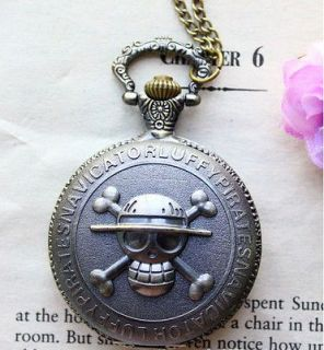 Necklace Steampunk Quidditch Pocket Clock For One Piece Two Sided