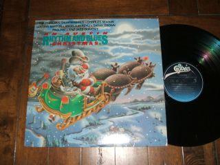 Rhythm & Blues Christmas 1986 LP Lou Ann Barton Charles Sexton EX+