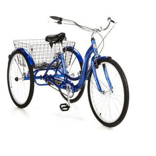 26 Schwinn Meridian Adult Tricycle Bike Bicycle, Blue