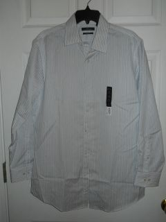 Mens Marc Anthony Slim Fit Dress ShirtWhite/Purple StripedNWT