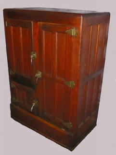 oak ice box in Antiques