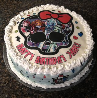 Monster High Personalized Edible Cake Image Topper Decorations Round A
