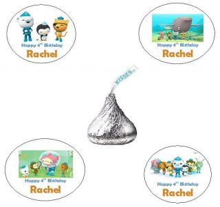 120 OCTONAUTS PERSONALIZED CUSTOM BIRTHDAY PARTY HERSHEY KISS FAVORS
