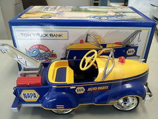1940 NAPA Auto Parts Vintage Gendron Tow Truck Pedal Car Bank Brand