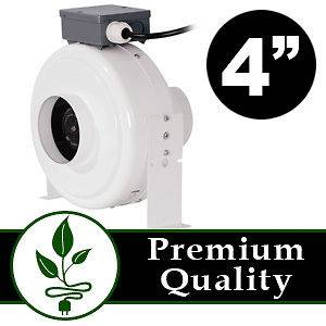 Inline Duct Fan Blower Hydroponic Grow Room Air Vent Exhaust 190