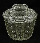Vintage COOKIE JAR Crystal Glass CANDY Biscuit Barrel LID