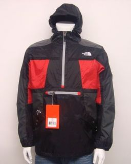 NORTH FACE MENS STEEP TECH ANORAK PULLOVER JACKET RED AYNQ 682 SELECT