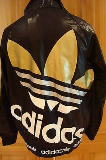 NEW RETRO ADIDAS SUPERSTAR RASTA BLACK/WHITE/GOLD TRACK TOP CHILE 62