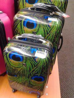 Heys Metallic Peacock 2 Piece Luggage Set 22 inch & 26 inch Suitcases