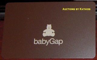 Gap Baby Teddy Bear Brown 2007 Gift Card Collectible No $Value
