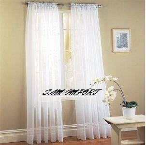 sheer curtain panel in Curtains, Drapes & Valances