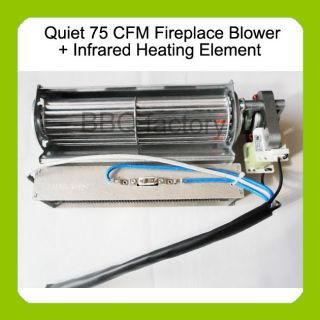 Replacement Fireplace Blower + Heating Element for Heat Surge Electric