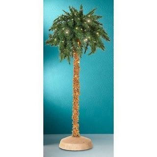 ARTIFICIAL 5 TROPICAL LIGHTED PALM TREE 150 LIGHTS INDOOR/OUTDOOR