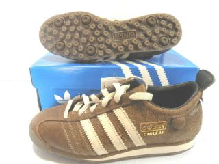 ADIDAS CHILE 62 SOCCER VINTAGE SNEAKERS MEN SHOES COFFEE 012596 SIZE 5