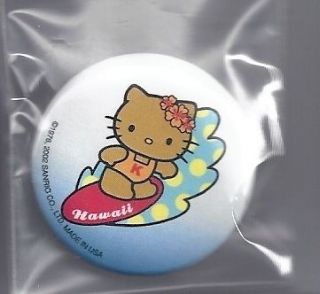 Sanrio Hello Kitty Hawaii Pin Badge Button Polka Dot