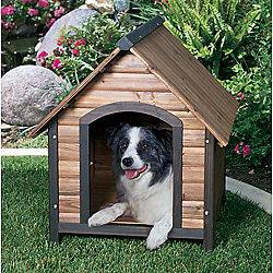 Extra Large High Quality Wood Frame Outdoor Log Pet Dog House NEW
