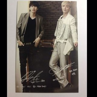 New Post Photo Card Genie AR Show Super Junior Lee Teuk / Eunhyuk