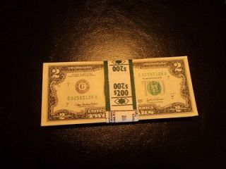 Newly listed $20 Face Value   (10) $2 Dollar Bill Federal Reserve (G