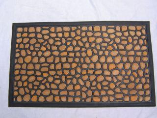 WELCOME WATERHOG DOOR MAT RUBBER 18 X 30 PEBBLE STONE LOW CLEARANCE