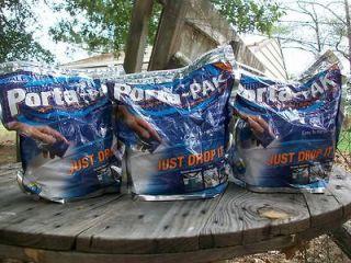 Exodor Porta Pak 3 X 50 count bags RV Boat camping portable toilet