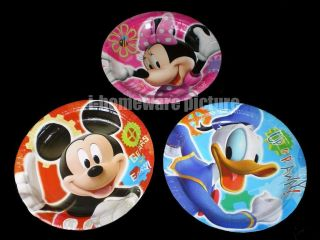 Mickey Minnie Mouse Donald Duck Birthday Party Paper Plates m363
