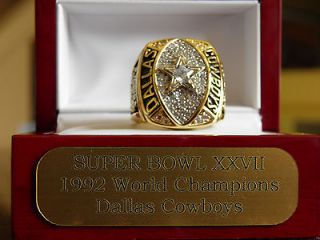 1992 Dallas Cowboys Super Bowl Ring Double ring box included