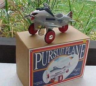 TOY PURSIT AIRPLANE PEDAL CAR 13 SCALE LIMITED EDITION