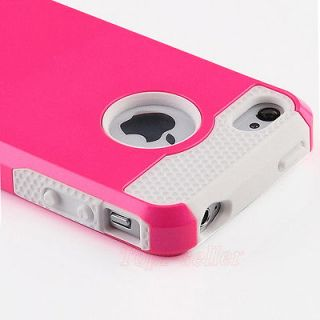 Pen+Rose Rugged Rubber Matte Hard Case Cover For iPhone 4G 4S w