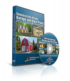 ready barn plans, garage plans and shed plans on DVD PDF or DWG