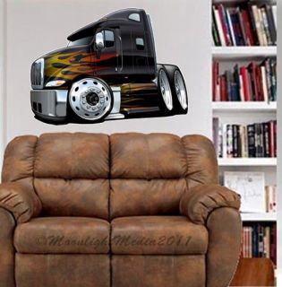 Semi Big Rig Peterbilt Truck WALL GRAPHIC FAT DECAL MAN CAVE BAR ROOM