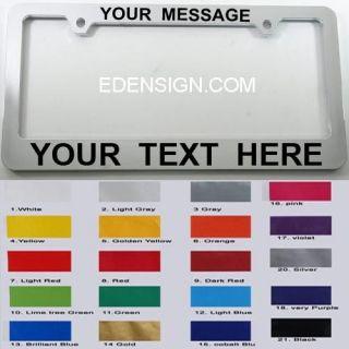 AZ NY Custom Personalized LICENSE PLATE FRAME Chrome color plastic
