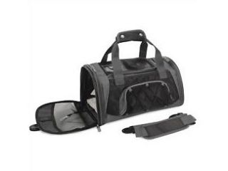 sport duffle S black pet dog cat carrier bag airline airplane approved